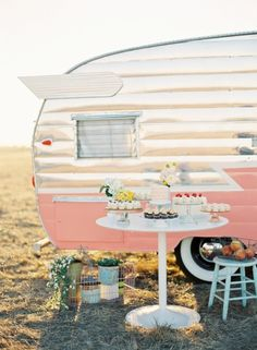 Cupcake party/ pink / vintage camper... no going wrong here!  Join me???