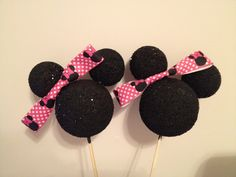 Minnie Mouse decorations by GeminiRed on Etsy, $20.00