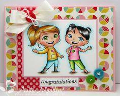 Fun card by Anita M featuring Yumi & Fumi