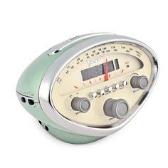 Vespa Radio Alarm Clock Green