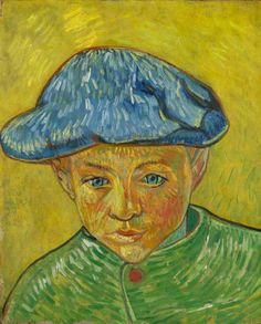 """https://www.facebook.com/VincentvanGogh.MiaFeigelson.Gallery """"Portrait of Camille Roulin"""" (Arles. November - December, 1888) [F 538]  By Vincent van Gogh, from Zundert, Netherlands (1853 - 1890) - oil on canvas; 40.5 x 32.5 cm - [Post-Impressionism] Place of creation: Arles, France © Van Gogh Museum, Amsterdam  (Vincent van Gogh Foundation) http://www.vangoghmuseum.nl/ https://www.facebook.com/VanGoghMuseum"""