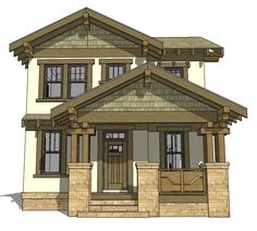 House Plan 70815 | Craftsman Plan with 2080 Sq. Ft., 3 Bedrooms, 3 Bathrooms, 2 Car Garage