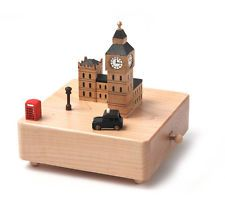 - Taxi goes around with the music box - One -touch to stop music - Music box base is made of real wood - Japan sankyo musc movement used - Music Leise Rieselt Der Schnee Taxi, Wooden Music Box, Best Educational Toys, Music And Movement, Its A Wonderful Life, Wood Toys, Oeuvre D'art, Decoration, Big Ben