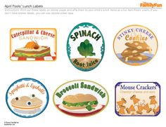Lunch labels