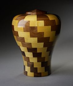 """Custom Wooden Cremation Urn for Human Ashes - Artistic Individual Urn for Adults - Personalized Urn - Funeral Urn - """"Harmony"""" Tile Shower Niche, Funeral Urns, Memorial Urns, Human Ashes, Wood Vase, Cremation Urns, Vases Decor, Wood Turning, Lathe"""