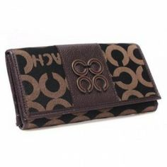 Coach Sutton Op Art Checkbook Purse Brown-Black U08019 http://www.theredstyle.com/index.php?route=product/product&path=165&product_id=3002