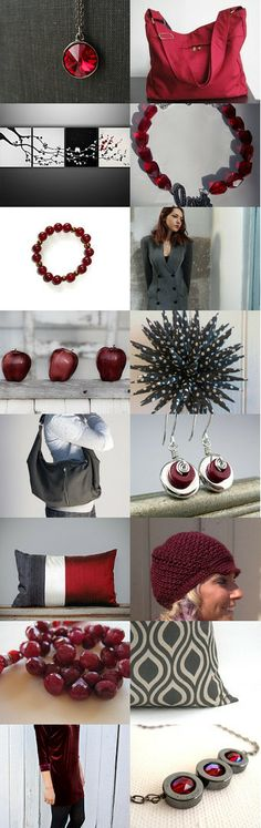 Classy Charcoal and Ruby Gifts ❤  by Carla on Etsy--Pinned with TreasuryPin.com