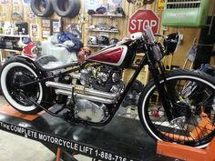 """Very sweet and well done XS650. Stock rear wheel with a 40 spoke 21"""" front both wrapped in Avon rubber."""