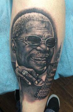 Bob Tyrrell - B.B. KIng tattoo