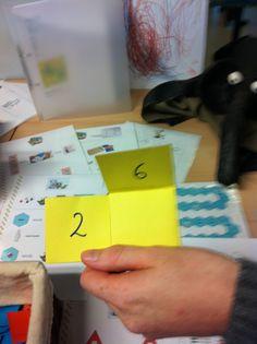 splitsen: eenvoudig om te maken en toch een leuke manier om te oefenen!  --> idee van materialenbeurs eerste leerjaar op school!