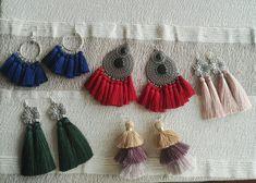 #orientaljewellery #orientalearrings  #with #tassels #silverjewellery