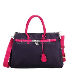 Love this Black  amp  Pink Contrast Satchel on  zulily!  zulilyfinds  Handbags Online c471fa52b9