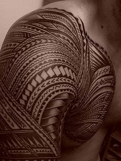 Sala Lauofo's Samoan tribal tattoo. He might be Jaxon's right-hand goon, but he has great taste in body art!