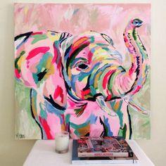 Fancy elephant by megan carn, 2014 art club sanat fikirler, Painting Inspiration, Art Inspo, Cool Paintings, Indian Paintings, Abstract Paintings, Abstract Art, Love Art, Painting & Drawing, Pink Painting