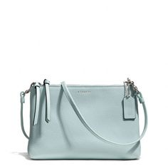 I have to have this purse!!!  The Bleecker Triple Zip Crossbody In Pebbled Leather from Coach