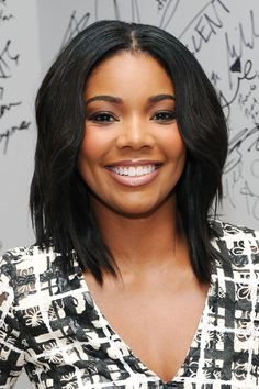 If you go back and forth between wanting to keep your long hair or chop it all off, a lob like Gabrielle Union's might be the perfect solution. Cho recommends keeping the length below your shoulder for a style that looks just as good up as it does worn down.    - Cosmopolitan.com