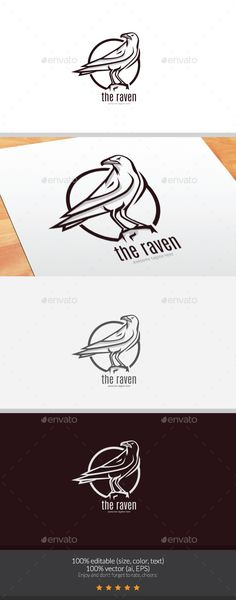 Make one special photo charms for your pets, 100% compatible with your Pandora bracelets.  The Raven Logo - Animals Logo Templates
