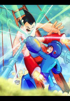 Throwback: Mega Man vs. Astro Boy 2004 by theoriginalmistajonz