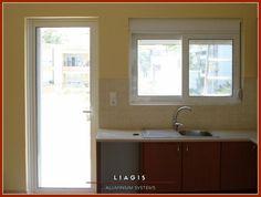Ρολά αλουμινίου για κουφώματα Ανοιγόμενο παράθυρο κουζινόπορτας Bathroom Lighting, Windows, Mirror, Furniture, Home Decor, Bathroom Light Fittings, Bathroom Vanity Lighting, Decoration Home, Room Decor