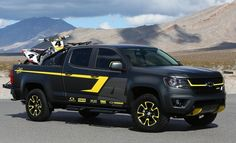 SEMA: Chevy Colorado Performance Concept Holds Motorbikes and More http://www.autotribute.com/37211/chevy-colorado-performance-sema-motorbikes/ #ChevroletColorado #Chevrolet #NewChevrolet #Truck #Trucks #PickupTruck #AmericanTruck #GMTruck