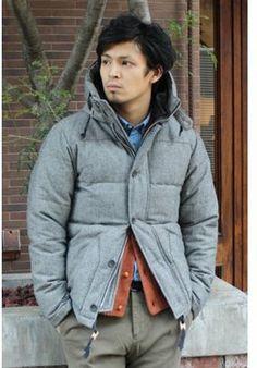 Tweed down jacket / ShopStyle(ショップスタイル): Journal Standard(ジャーナル スタンダード) MEN'S ブロークンツイードダウンジャケット