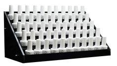 Black Acrylic Nail Polish Large Display Stand Rack Black Acrylic Nails, Black Acrylics, Bookends, Nail Polish, Display, Decor, Shop, Products, Floor Space