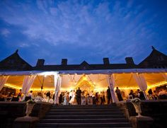 Outdoor wedding reception at Greystone Hall - West Chester, PA