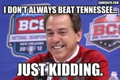 Yea he does. ROLL TIDE!!!   Check out RollTideWarEagle.com Sports stories that inform and entertain plus FREE football rules tutorial, check it out. #Alabama