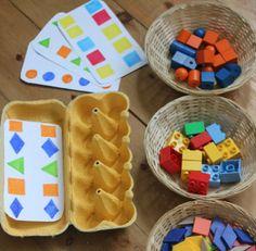 Idea para trabajar con las hueveras de cartón diferentes conceptos en preescolar 6