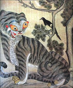Korean tale of the tiger and the magpie - Happy message