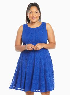 Lace Contrast Skater Dress | Torrid | plus size clothes ...