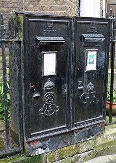 two black wall boxes, Edward VII & George V