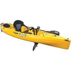 """Hobie 2013 Revolution 11 Buy $1,799.99 - Hobie Revolution 11 is great for a day of casting, paddling, pedaling or sailing.  This angler kayak is modeled after the Revolution 13 – the """"Revo 11"""" features a slippery-yet-stable hull form, Hobie's innovative MirageDrive system, generous stowage and lashing configurations and an optional sailing kit, giving you the ability to go. The Revolution 11 with it's featherweight hull accelerates effectively.  The nimble design and impressive turning…"""