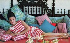 Lilly Pulitzer at home, 1963.
