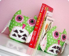 Owl bookends for Eden's room