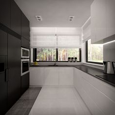 Kitchen Cabinet Remodel, Kitchen Cabinets, Interior Design Kitchen, Interior Decorating, U Shaped Kitchen, Living Room Modern, Simple House, Home Kitchens, House Design