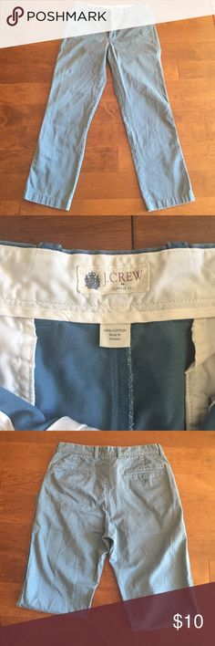 J crew classic fit pants/chinos Light blue pants/chinos, classic fit in a size 31x30 from J crew. The fit is a more straight legged fit. J. Crew Pants Chinos & Khakis