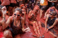 La Tomatina, the world's largest tomato-throwing festival, turned 71 this year.