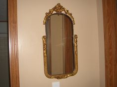 Vintage Ornate Gold Gilded Wood Frame Mirror by susanlewis623