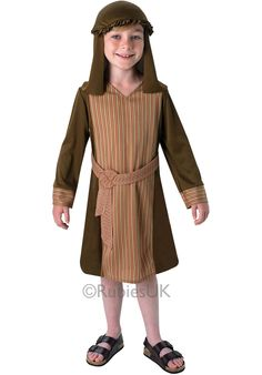 Nativity Shepherd Costume for Kids - Childrens Christmas Costumes at Escapade Childrens Fancy Dress, Fancy Dress For Kids, Shepherd Costume, Childrens Christmas, Christmas Nativity, Christmas Fancy Dress, Costumes For Sale, Christmas Costumes, Complete Outfits