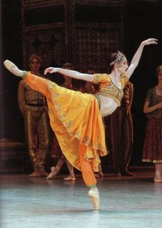 "Sylvie Guillem as Nikiya in The Royal Ballet's production of ""La Bayadère."""