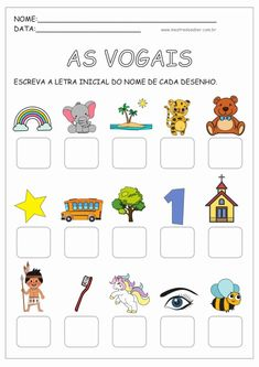 1 million+ Stunning Free Images to Use Anywhere Preschool Learning Activities, Preschool Printables, Preschool Worksheets, Teaching Kids, Back 2 School, Pre School, Abc Phonics, Learn Portuguese, Free To Use Images