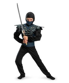Night Camo Muscle Ninja Dress-Up Set - Kids