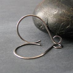 Ear Wires - Hammered Swinger Hoops in my Antiqued Finish ♥ Rocki
