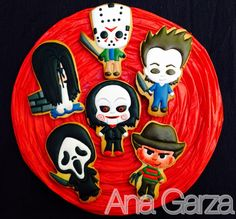 Villains of Terror Fall Cookies, Cute Cookies, Cupcake Cookies, Sugar Cookies, Halloween Cookies, Halloween Desserts, Halloween Treats, Halloween Decorations, Halloween 2020