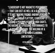 Leadership is not magnetic personality