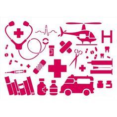 Pochoir Médecine (A4) - ADEUXMAINS.FR