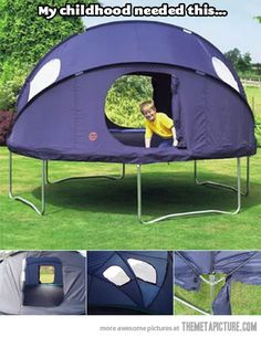 Tent-trampoline…