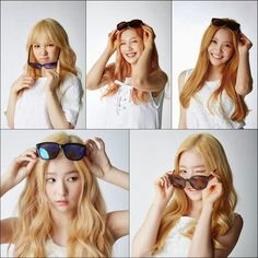 Red Velvet are lovely blondies Young Kim, Kim Yerim, Sooyoung, Stand By Me, Blondies, Red Velvet, Mirrored Sunglasses, Kpop, Beauty