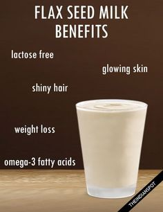 Making your own alternative milks at home is easy and really rewarding. It's fantastic that there are lots of options for non-dairy milk these days; Flax seed milk being one of them! Flax seed milk unlike cow's milk, contains no cholesterol or lactose, making it healthier for your heart. Let us see some top benefits